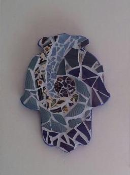 Mosaic made from broken stuff